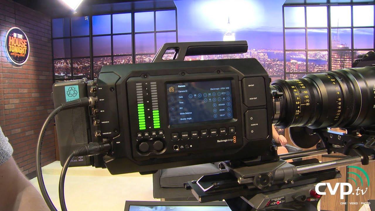 Buy Blackmagic Ursa Pl Mount 4k Camera With A Super 35 Sensor Global Shutter Built In 10 Inch Monitor And 12g Sdi Bmd Cinecamursa4k Pl
