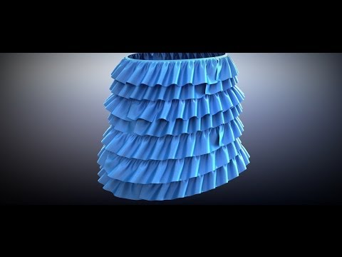 Cloth ruffles modeling
