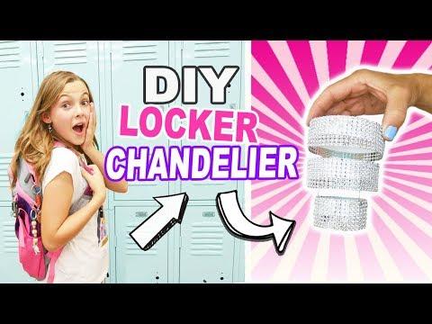 DIY Mini Locker Chandelier / Easy BACK TO SCHOOL Crafts For Kids / Locker Decor