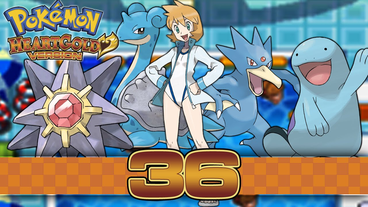 Pokemon HeartGold - Part 36 - Gym Leader Misty! - YouTube