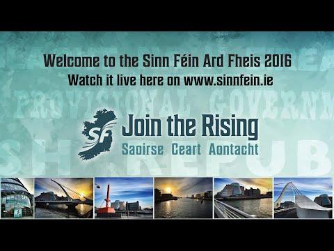 Sinn Féin Ard Fheis 2016 Live