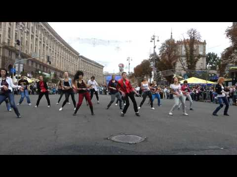 Michael Jackson - 55th Birthday Dance Tribute, Flashmob (Kyiv,Ukraine) - Thriller