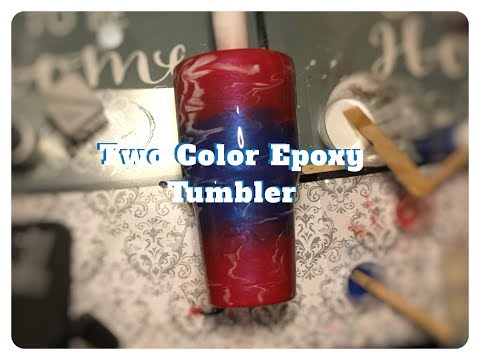 Watch me make a two color Epoxy tumbler using Micas and Paint - Creations by JennyD