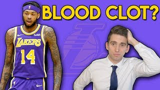 Brandon Ingram BLOOD CLOT (DVT) - Chris Bosh All Over Again? | A Doctor's Take
