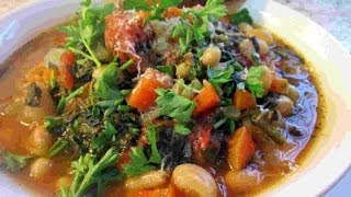 Healthy Tuscan Ribollita Soup Recipe ~ Parmesan Cheese Rind