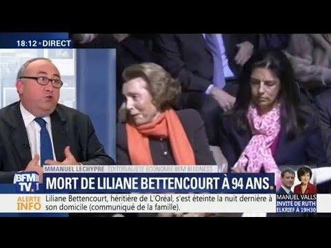Liliane Bettencourt, héritière de L'Oréal, est décédée à l'âge de 94 ans