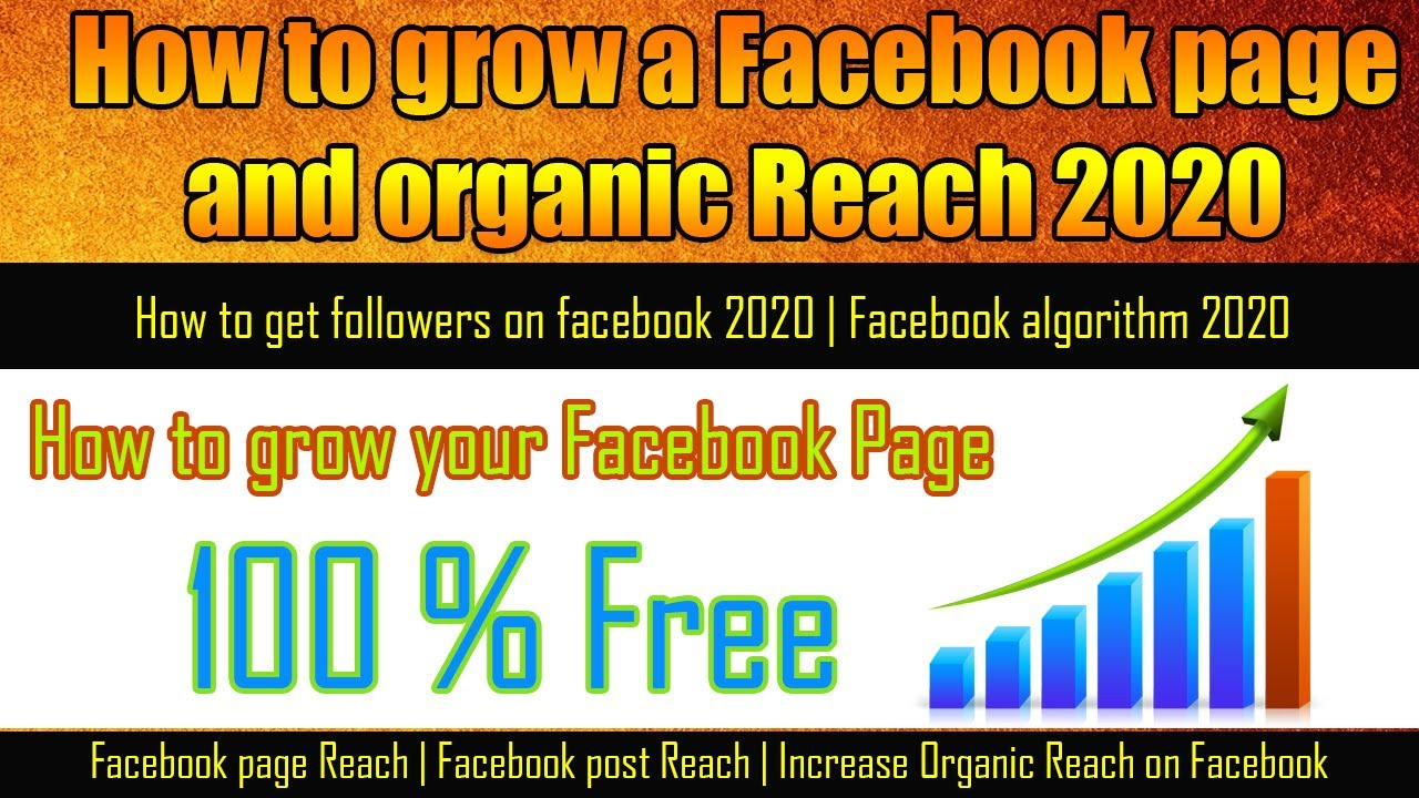 How to grow a Facebook page and organic Reach 2020 ...