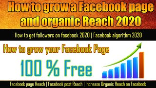 How to grow a Facebook page and organic Reach 2020 | Facebook …