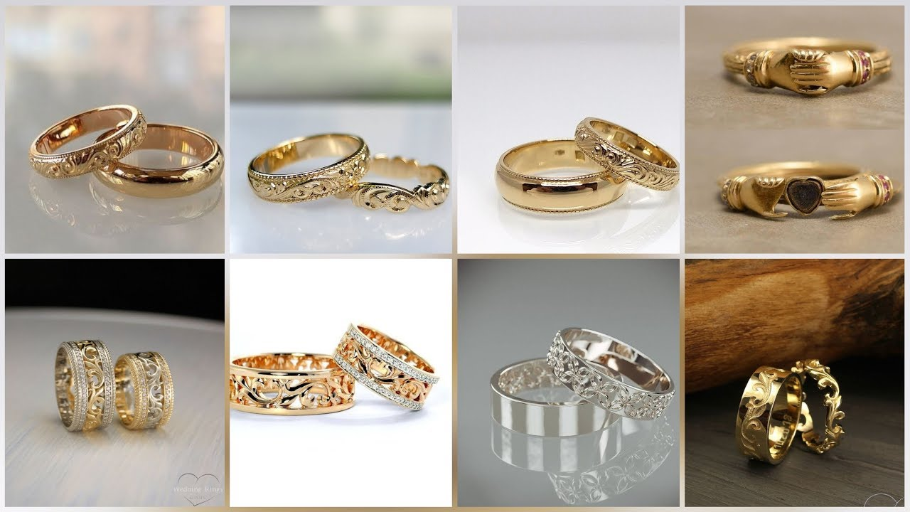 Trendy And Stylish Couple Ring Designs Collection For Engagement And Wedding Youtube