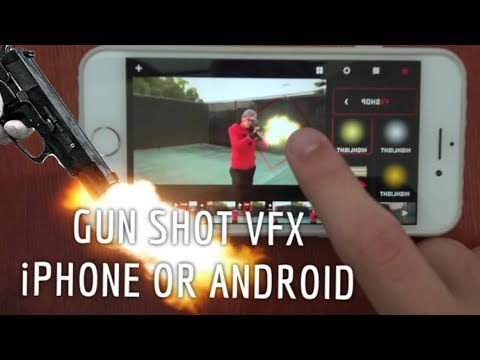 How to Gun Shot VFX With iPhone & Android! Filmmaking Mobile!