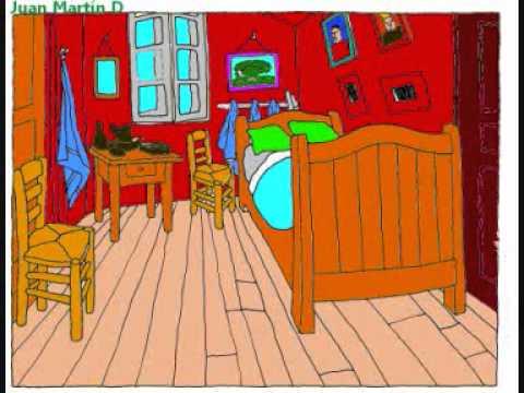 Vincent Van Gogh • Bedroom in Arles - YouTube