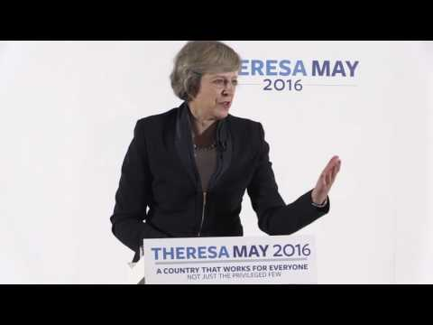 Theresa May - Speech on 11 July 2016 - Conservative Leadership