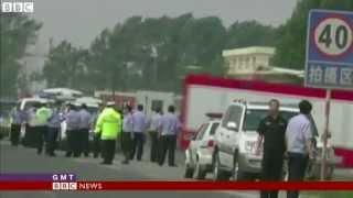 Dehui poultry plant fire  Locked exits