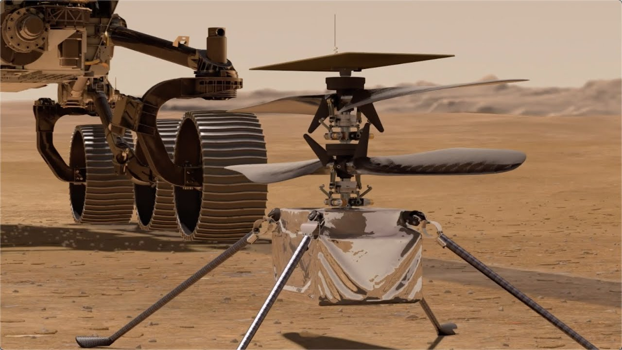 NASA helicopter 'Ingenuity' will be 'first aircraft on Mars' - YouTube