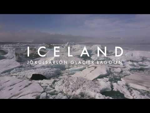 Iceland: Jökulsárlón Glacier Lagoon By Drone (4K)