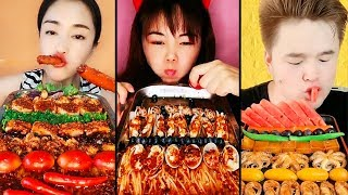 Tasty Food Show - Eating seafood, meat, fruit,  gourmet tray, dishes, Chinese food | Eating Show #1