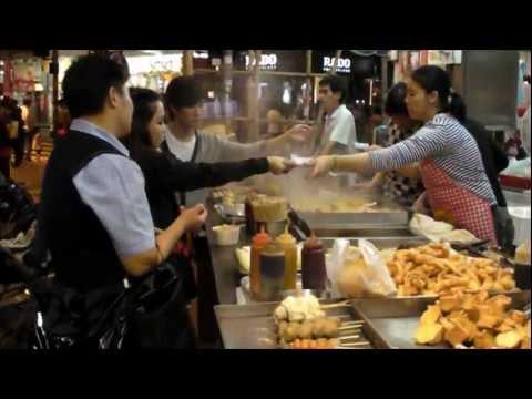 Hong Kong. Street Food Stall. Near Times Square, Causeway Bay. Dai Pai Dong Chinese Restaurant