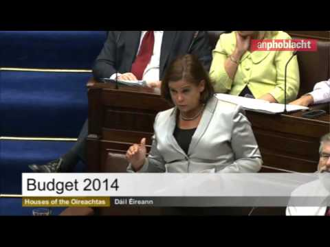 Budget 2014: Mary Lou McDonald TD responds to 'arrogant and out of touch' Government