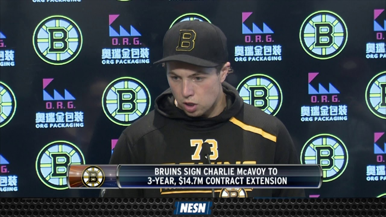 Bruins' Charlie McAvoy Reacts To Signing Contract Extension