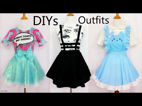 3 Cool&Creative DIY Outfits: DIY Mint Shimmering Skirt+Bandage Suspender Skirt+Cat Maid Costume