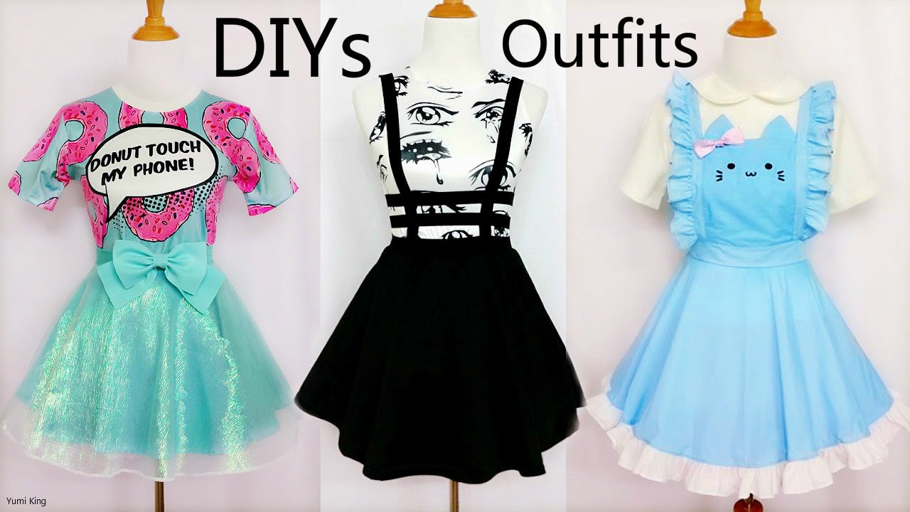 154a3a777 3 Cool&Creative DIY Outfits: DIY Mint Shimmering Skirt+Bandage Suspender  Skirt+Cat Maid Costume - YouTube