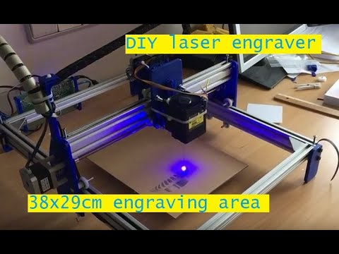 DIY 3D Printed Laser Engraver With Approx  38x29cm Engraving