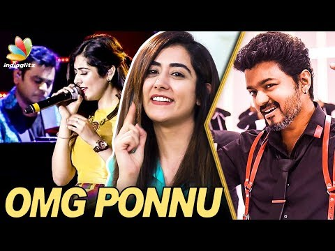 OMG Ponnu Recording with A.R : Jonita Gandhi Interview | Sarkar, Vijay's Thalapathy 62