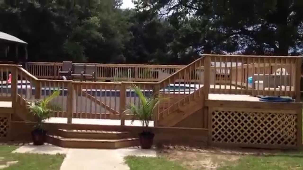 Williams Above Ground Pool Deck With Gazebo Youtube