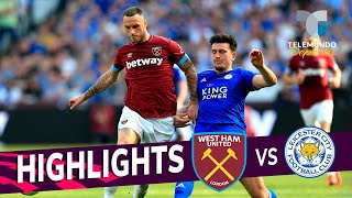 West Ham United vs. Leicester City: 2-2 Goals & Highlights | Premier League | Telemundo Deportes