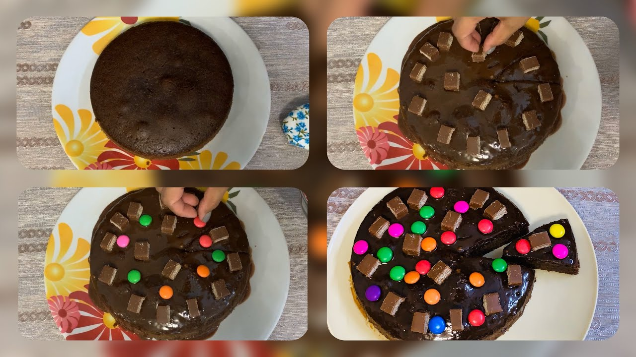 Easy Cake Decoration At Home   Cake Decoration In Lockdown ...