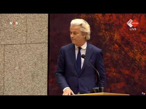 ★ Inbreng Geert Wilders na het aftreden van Halbe Zijlstra ★ 13-2-2018 HD