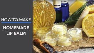 DIY Lip Balm ... 3 Ways! (Pomegranate, Lavender Mint & Lavender Lemon)