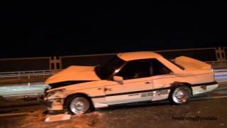 2013年9月26日の夜に起こった国道246号線の交通事故処理の様子