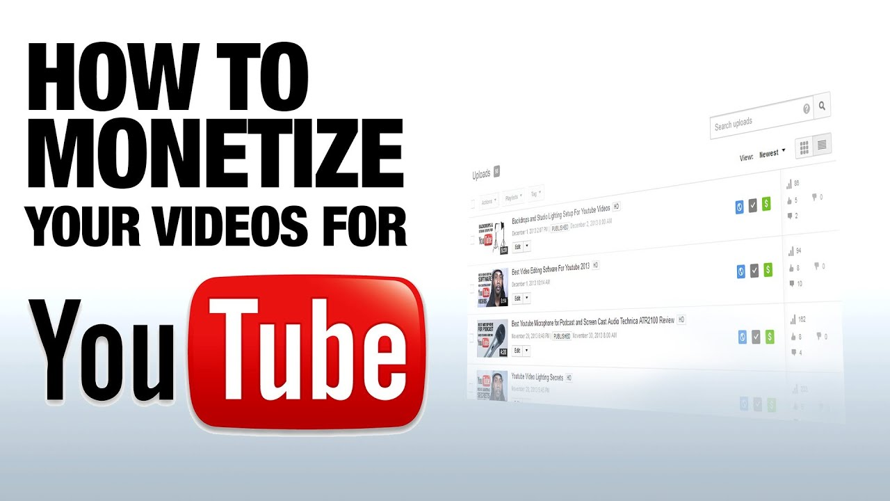 How to Monetize Your Youtube Videos 2013 - YouTube