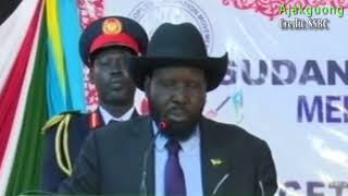 The South Sudanese President: Salva Kiir  Mayardit's Speech at SPLM National Liberation Council 2018