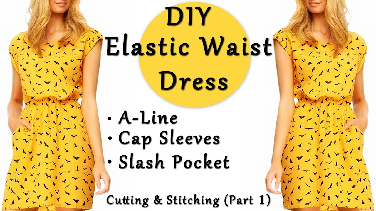 38077d12c16 DIY Elastic Waist Dress