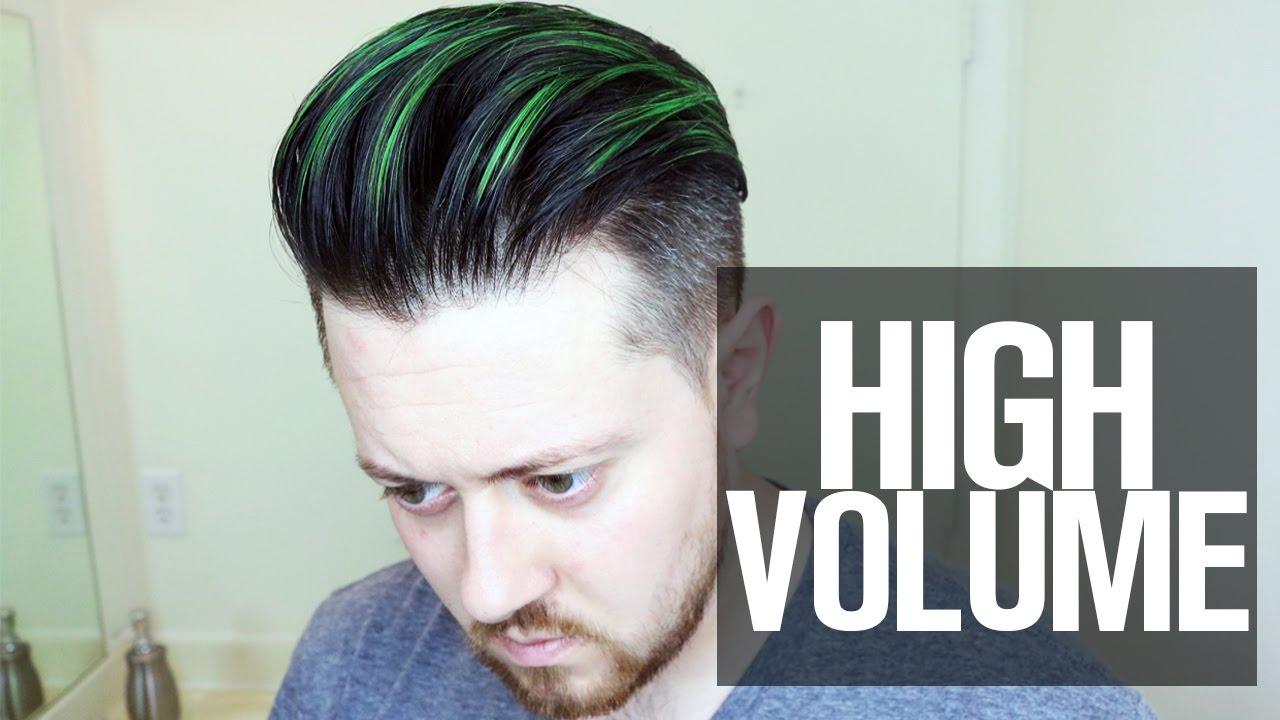 High Volume Hairstyle Tutorial I Mens Hair 2016 Youtube