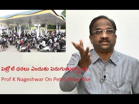 పెట్రోల్ ధరలు ఎందుకు పెరుగుతున్నాయి Prof K Nageshwar On Petro Price Rise
