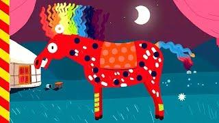 Наряжаем пони на праздник. Украшаем лошадку на день рождение. Мультик про животных.