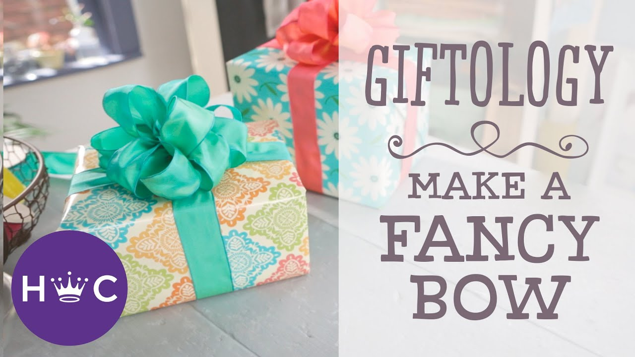 How to Make a Fancy Bow | Giftology - YouTube