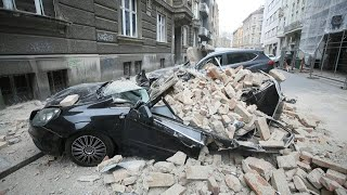 Powerful quake damages buildings and cars in croatia capital | afp