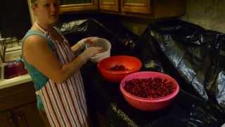 How to pit fresh Sour Cherries
