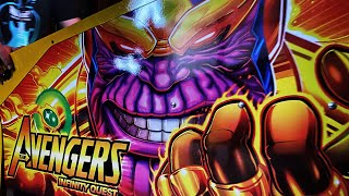 Marvel Universe Avengers infinity quest LTD edition Pinball machine, Unboxing and first play!