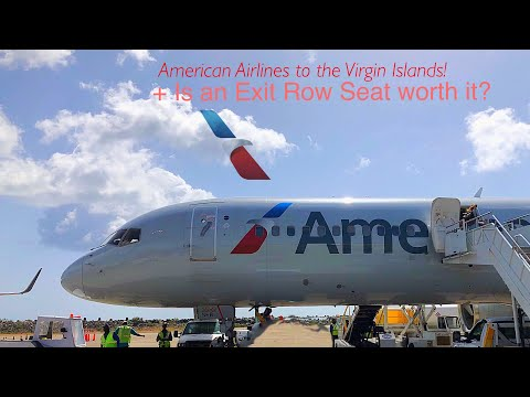 American Airlines 757 To Paradise! Is The Exit Row Worth It? Miami - St. Thomas