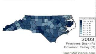 North Carolina Unemployment Map