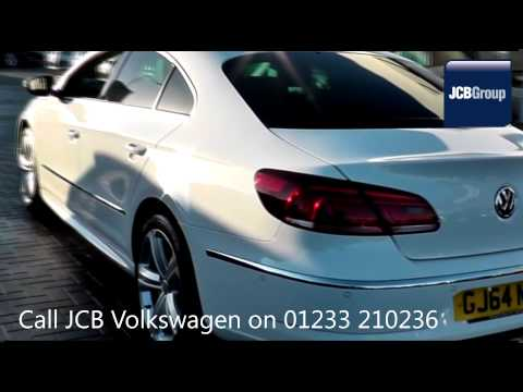 2014 Volkswagen CC R LINE TDI DSG 2l Pure White GJ64NDK for sale at JCB VW Ashford