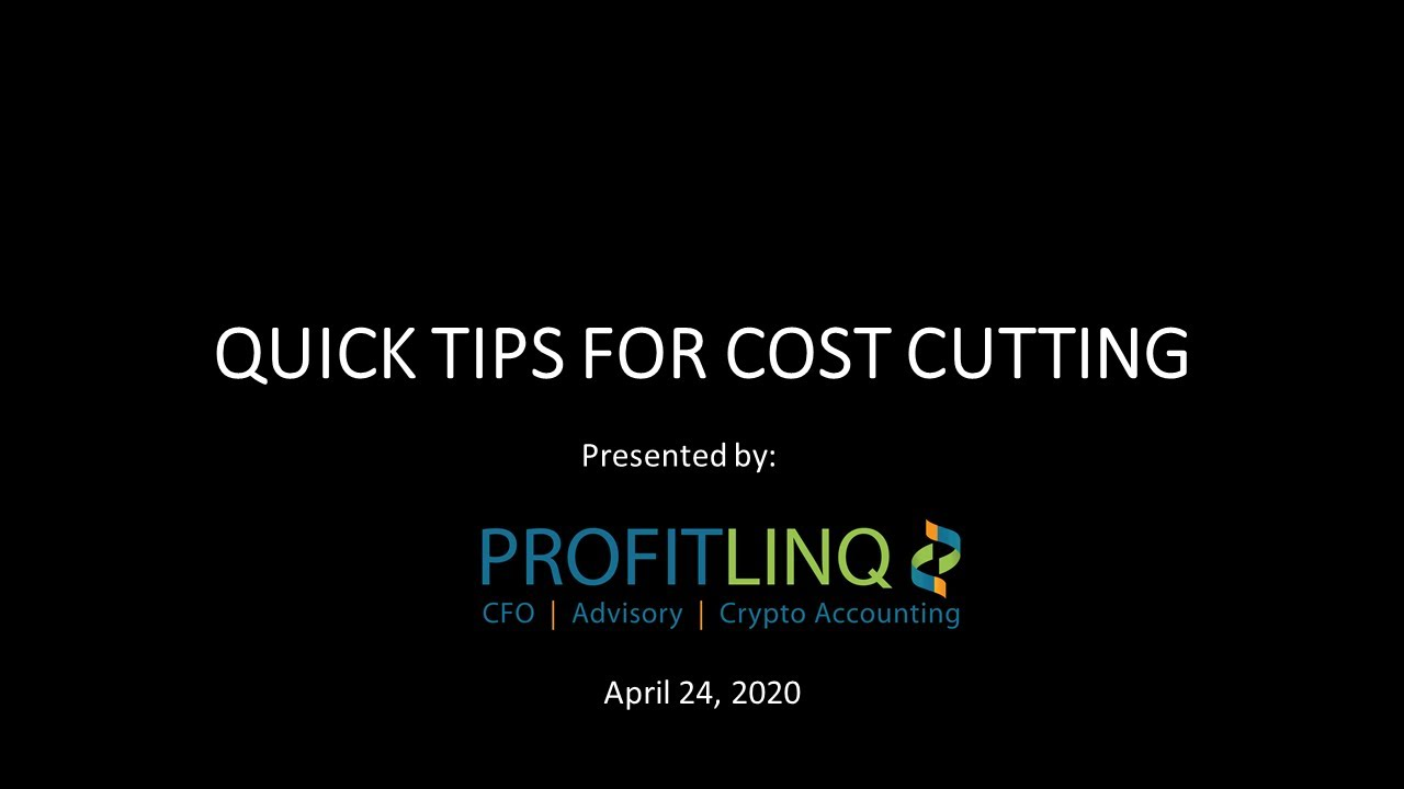 Quick tips for cost cutting
