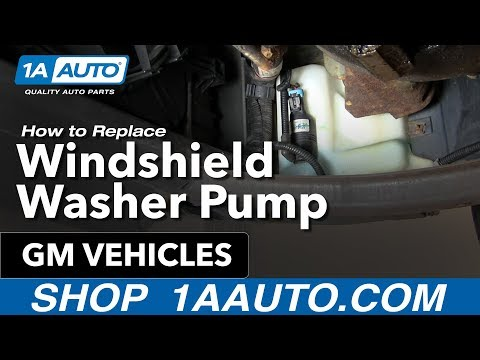 2016 Gmc Canyon Diesel Price - How To Install Replace Windshield Washer Pump Many GM Vehicles 1AAuto.com