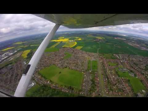 Aerial view of Maltby, Rotherham - Cessna 152