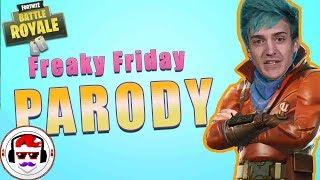 NINJAS FORTNITE FRIDAY - Lil Dicky, Chris Brown Freaky Friday Parody | Rockit Gaming ft NitroLukeDX